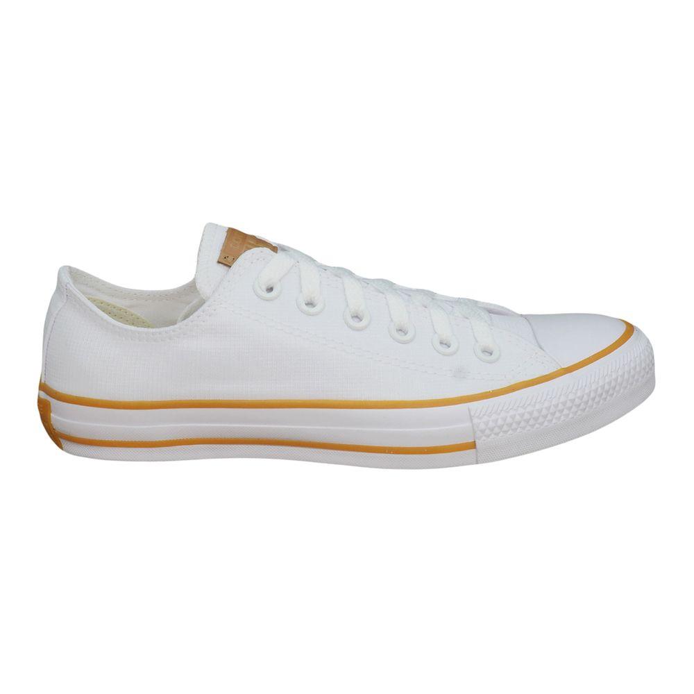 9b3911100f4 Tênis Converse Chuck Taylor All Star Branco Marrom Mel - Espaco Tenis