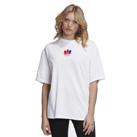 Adidas-Camiseta-Trefoil-Branco
