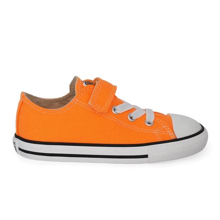 Converse-Chuck-Taylor-All-Star-1V-Laranja-Fluor-Preto-Branco