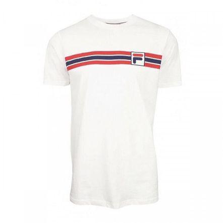 Camiseta-Fila-Stripe-Off-White-Marinho-Vermelho